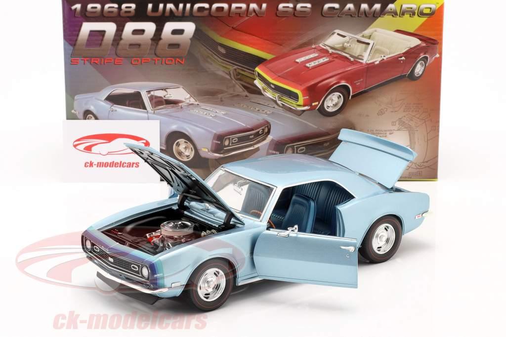 Chevrolet Camaro SS Coupe Año de construcción 1968 azul 1:18 GMP
