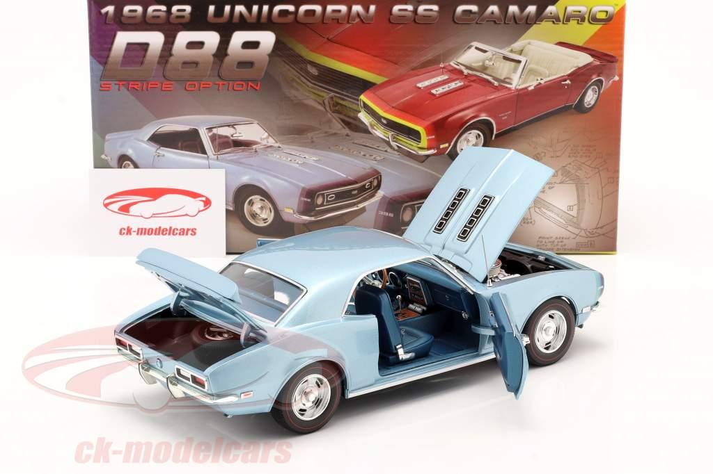 Chevrolet Camaro SS Coupe Byggeår 1968 blå 1:18 GMP