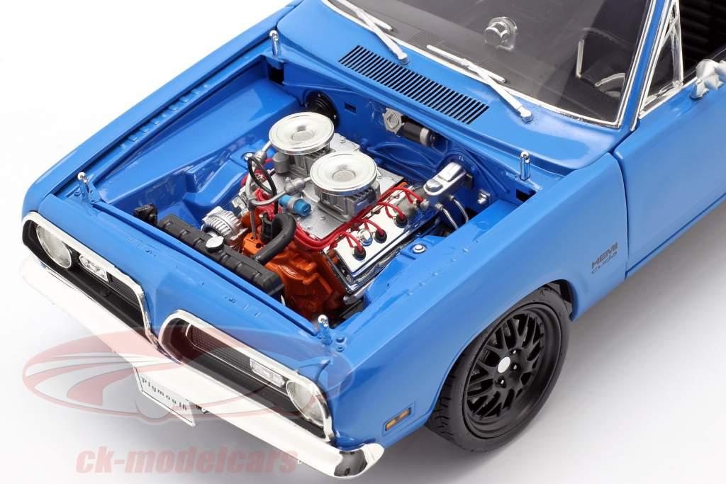 Plymouth Hemi Cuda Street Fighter Byggeår 1969 blå 1:18 GMP