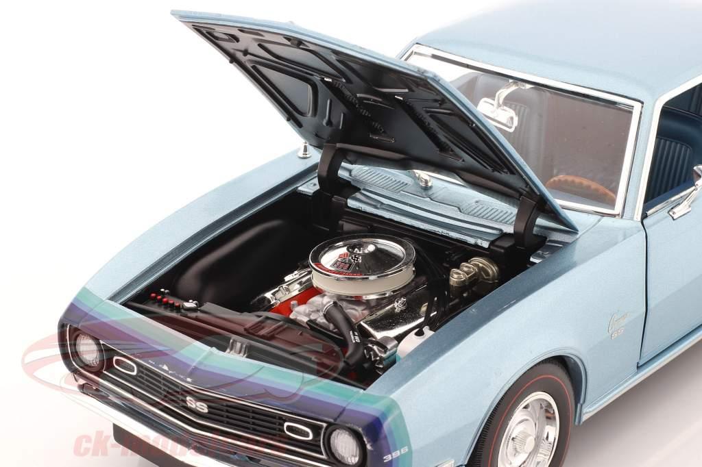 Chevrolet Camaro SS Coupe Bouwjaar 1968 blauw 1:18 GMP
