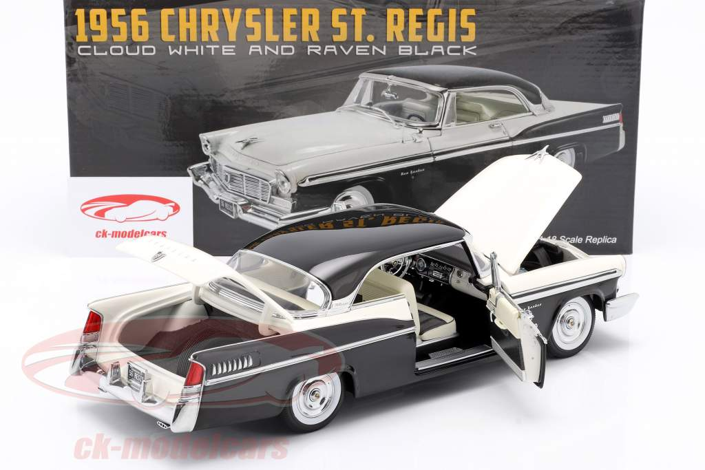 Chrysler St. Regis Konstruktion år 1956 Sky hvid / ravn sort 1:18 GMP