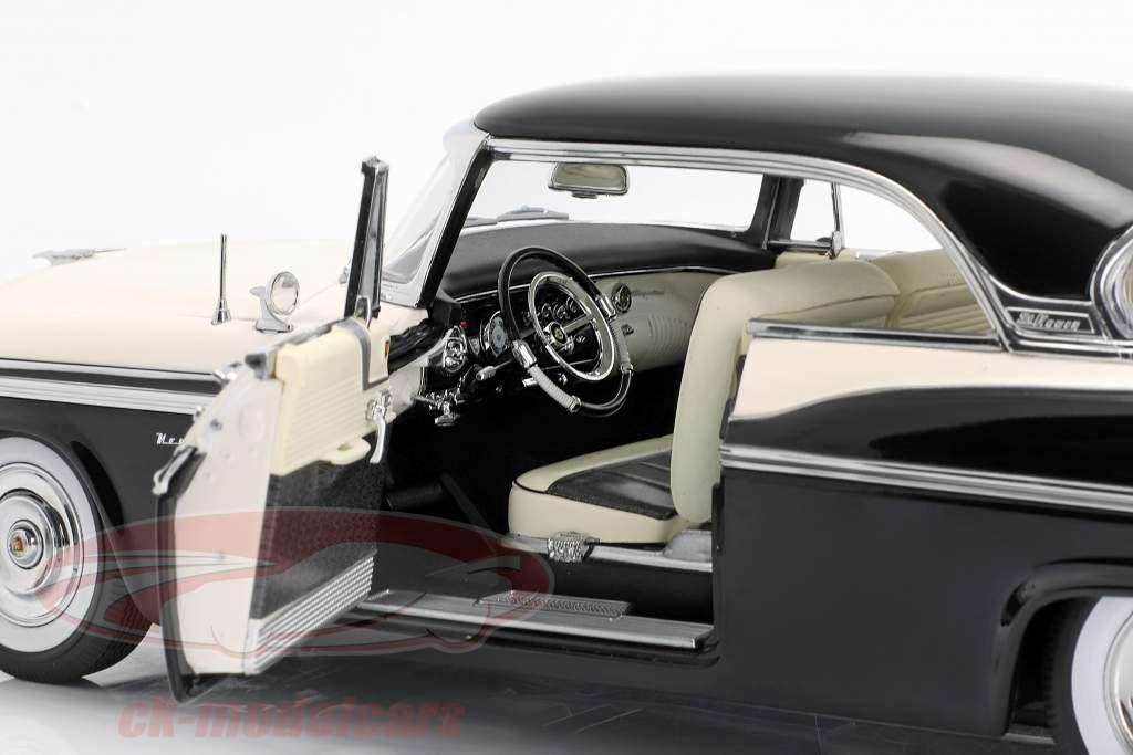 Chrysler St. Regis Construction an 1956 nuage blanc / corbeau noir 1:18 GMP
