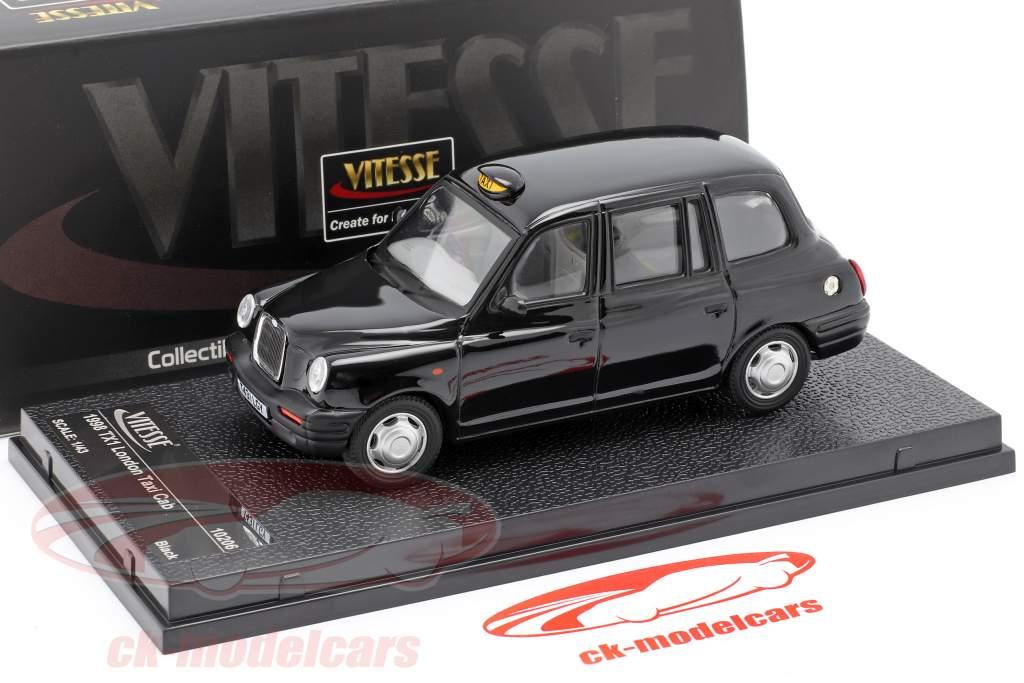 TX1 London Taxi Cap år 1998 sort 1:43 Vitesse