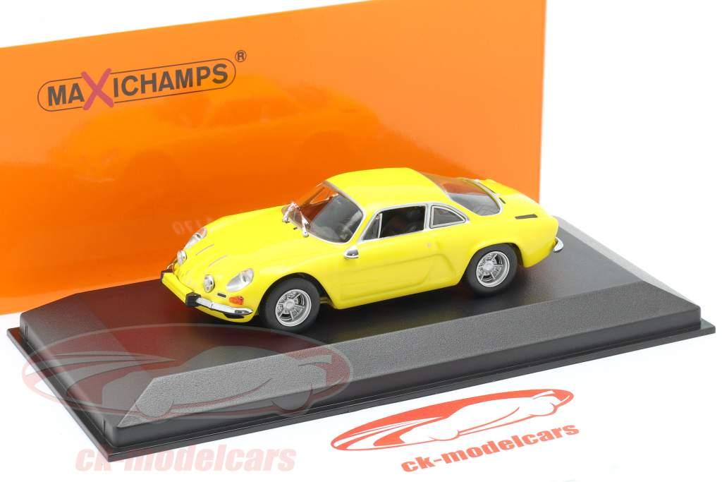 Renault Alpine A110 año 1971 amarillo 1:43 Minichamps