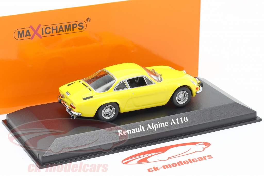 Renault Alpine A110 ano 1971 amarelo 1:43 Minichamps