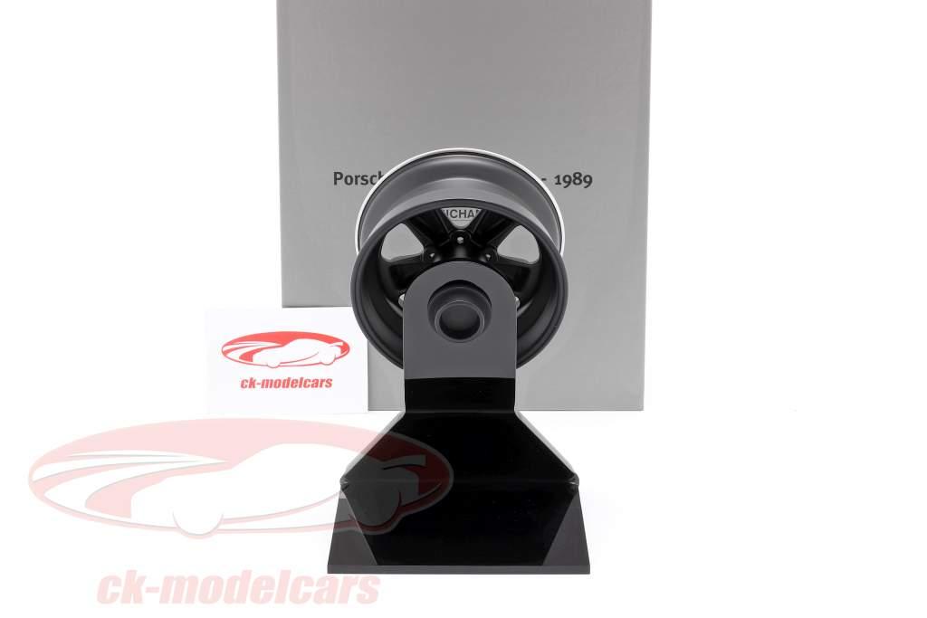 Porsche 911 (930) Turbo Wheel Rim Bouwjaar 1989 zwart / zilver 1:5 Minichamps