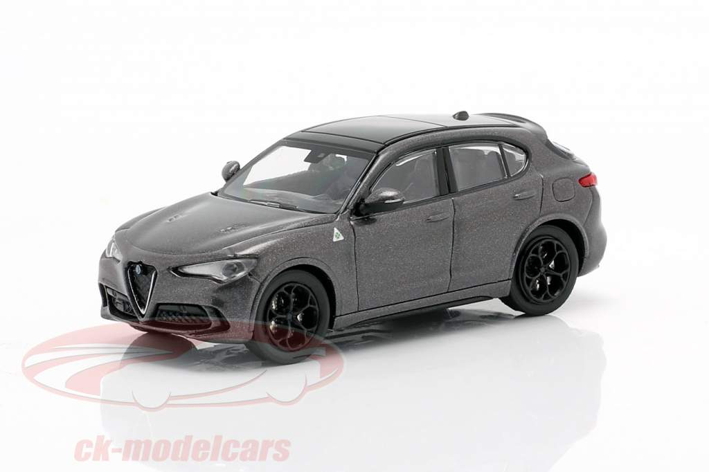 Alfa Romeo Stelvio Quadrifoglio year 2018 grey metallic 1:87 Minichamps