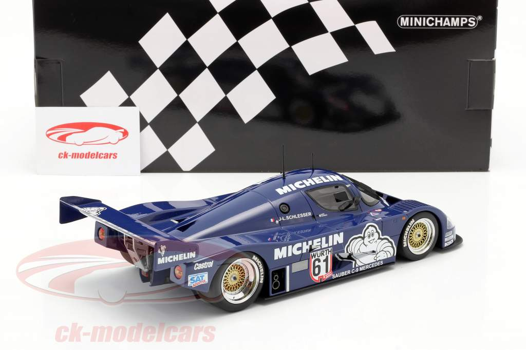 Sauber Mercedes C9 #61 Winnaar ADAC Supersprint 1987 Schlesser 1:18 Minichamps