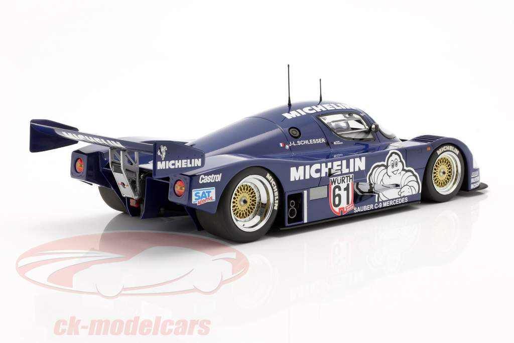 Sauber Mercedes C9 #61 Gagnant ADAC Supersprint 1987 Schlesser 1:18 Minichamps