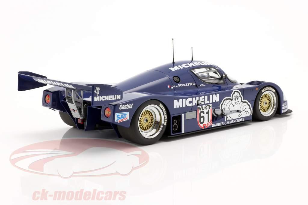 Sauber Mercedes C9 #61 Vencedora ADAC Supersprint 1987 Schlesser 1:18 Minichamps