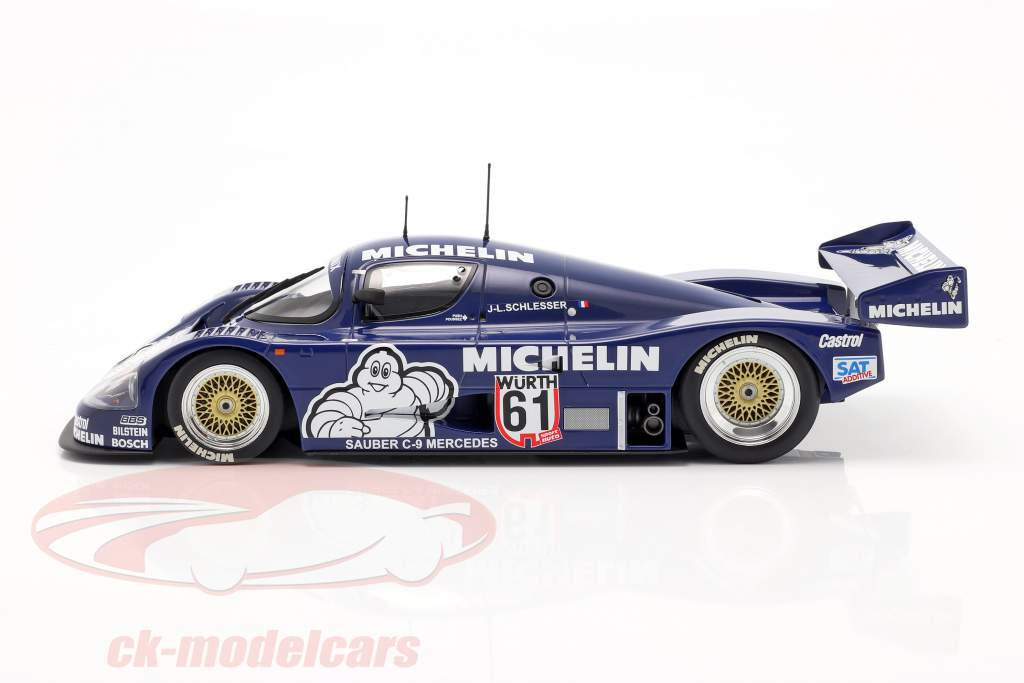 Sauber Mercedes C9 #61 Ganador ADAC Supersprint 1987 Schlesser 1:18 Minichamps