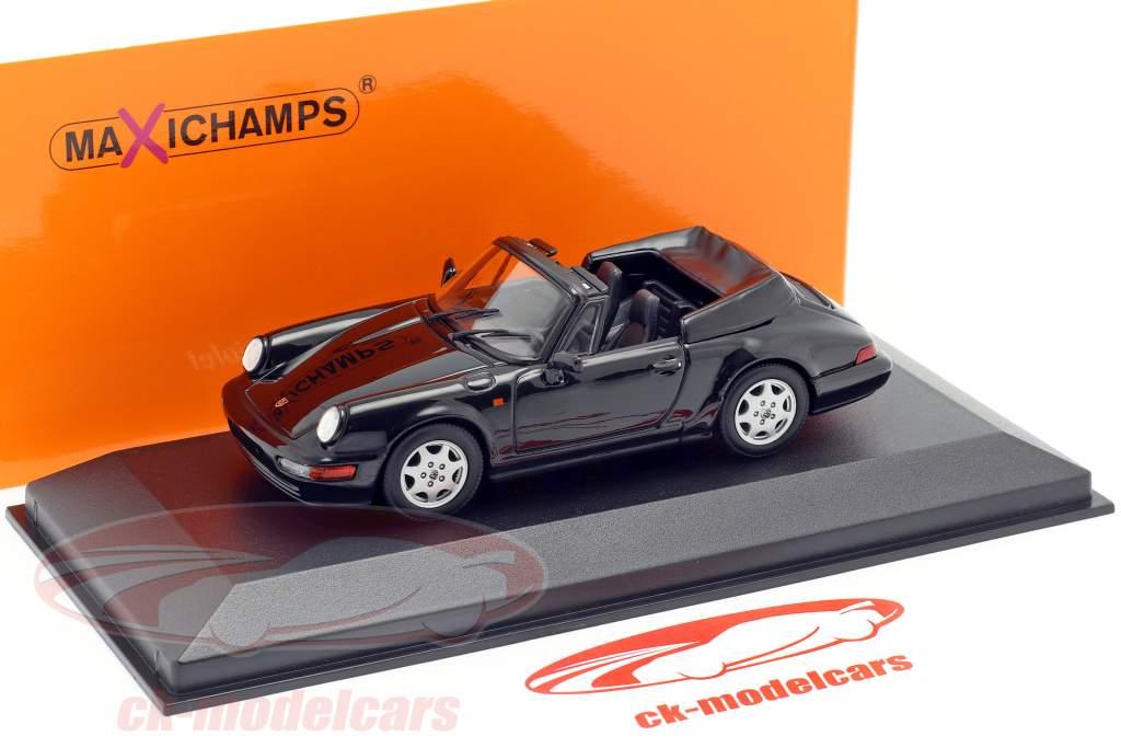 Porsche 911 Carrera 4 Cabriolet anno 1990 nero 1:43 Minichamps