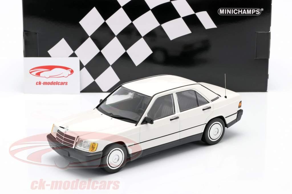 Mercedes-Benz 190E (201) jaar 1982 Wit 1:18 Minichamps