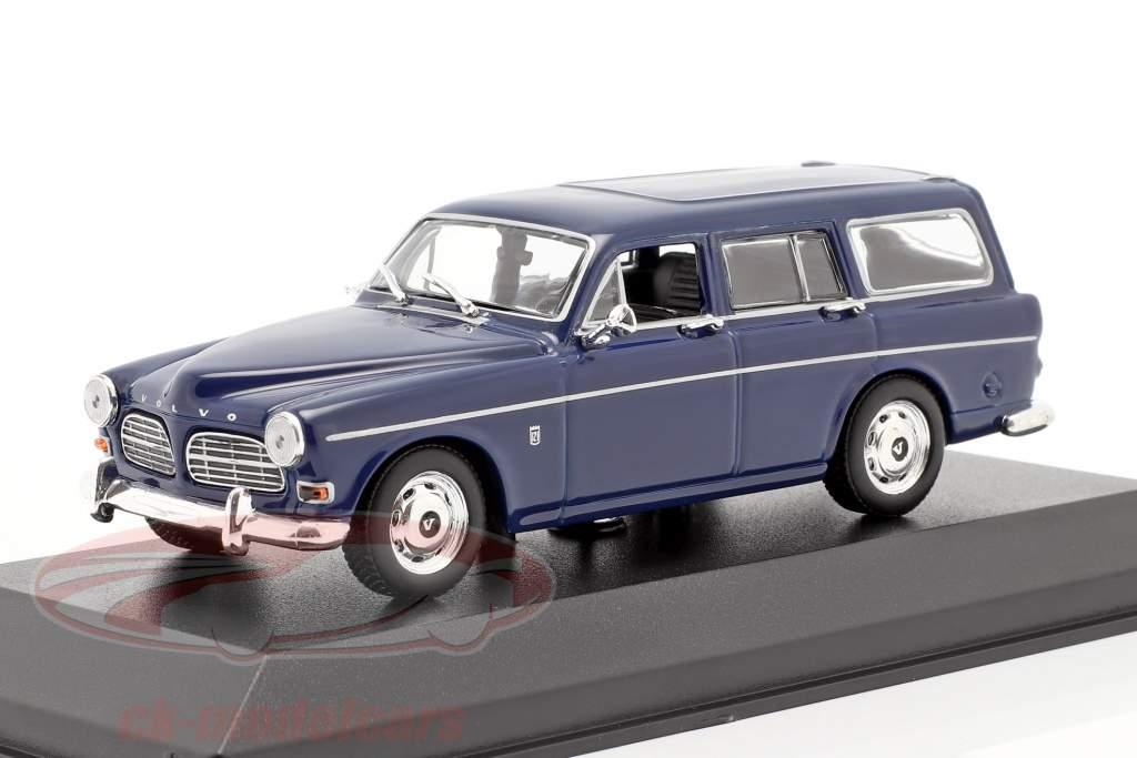 Volvo 121 Amazon Break år 1966 mørk blå 1:43 Minichamps