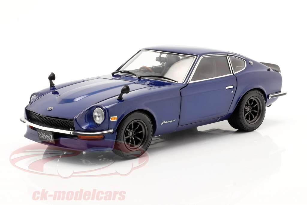 Nissan Fairlady Z (S30) år 1970 blå metallisk 1:18 Minichamps