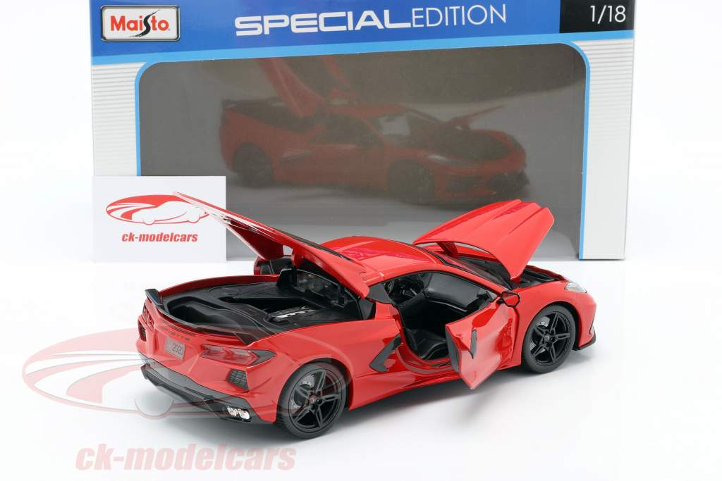 Chevrolet Corvette C8 Stingray Année de construction 2020 rouge 1:18 Maisto
