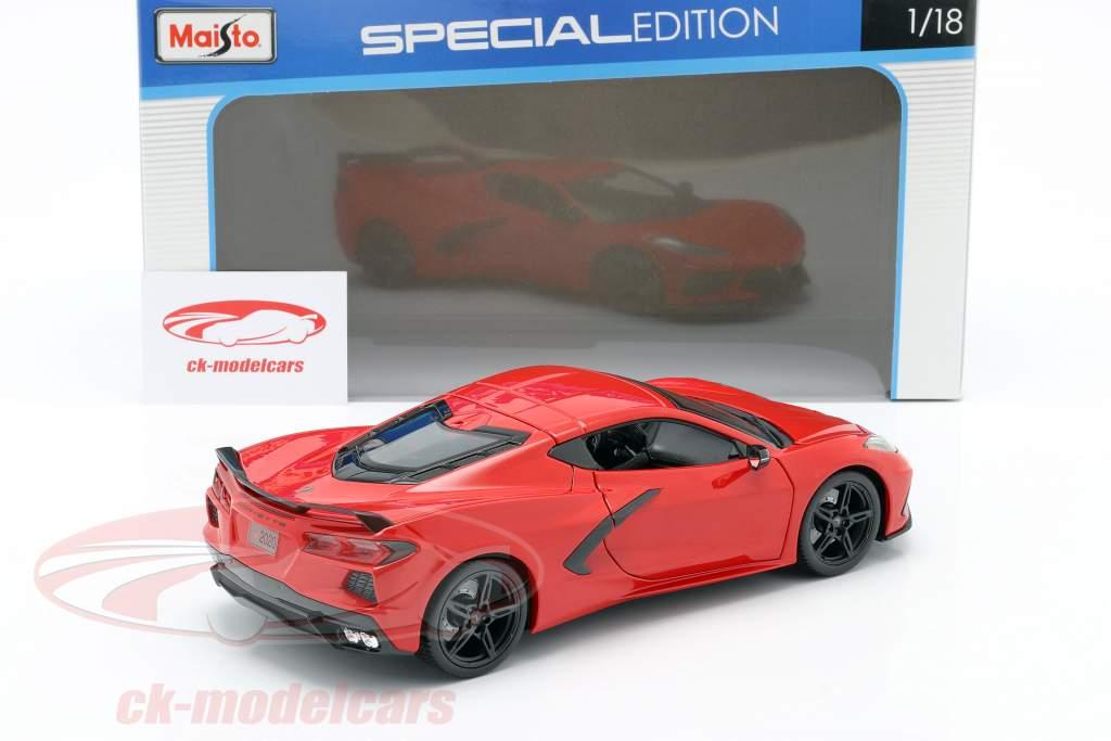 Chevrolet Corvette C8 Stingray Anno di costruzione 2020 rosso 1:18 Maisto