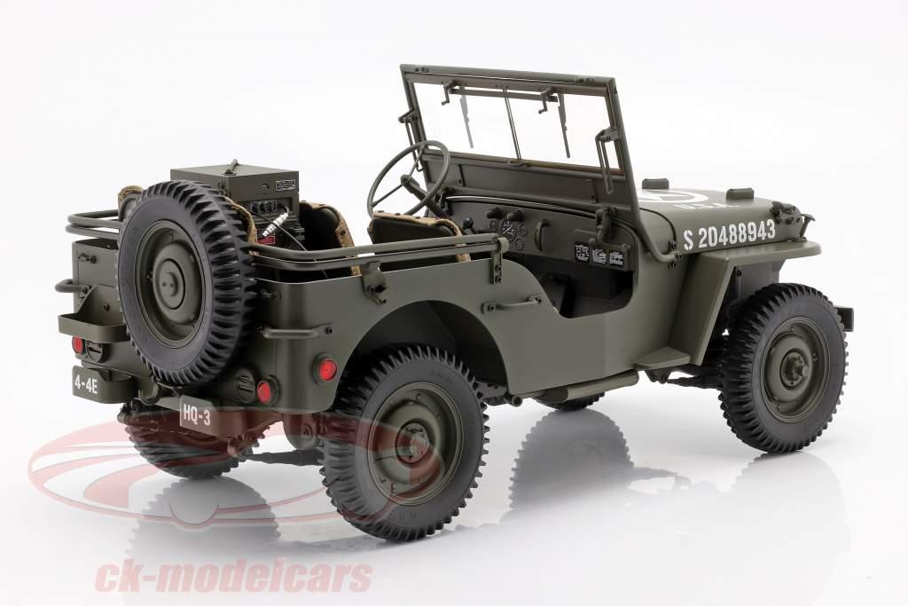 Jeep Willys MB con Remolque y M3 Cañón antitanque 1943 aceituna 1:8 Premium X
