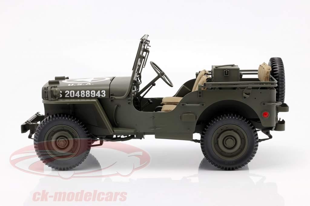 Jeep Willys MB med Anhænger og M3 Anti-tank pistol 1943 oliven 1:8 Premium X