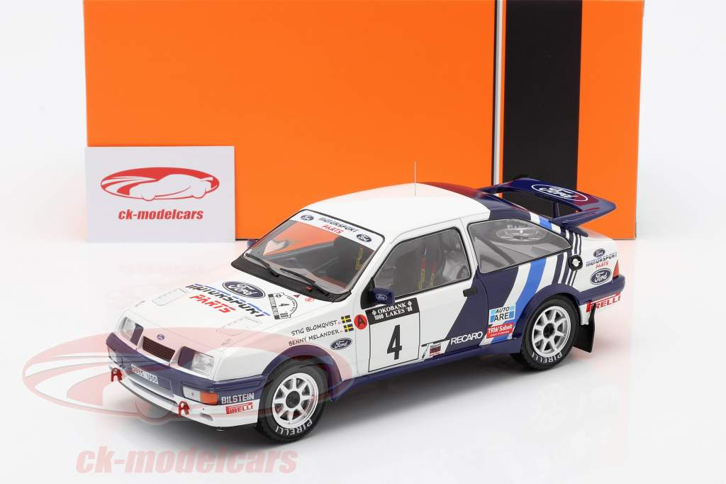 Ford Sierra RS Cosworth #4 Quinto Rallye 1000 Lakes 1988 Blomqvist, Melander 1:18 Ixo