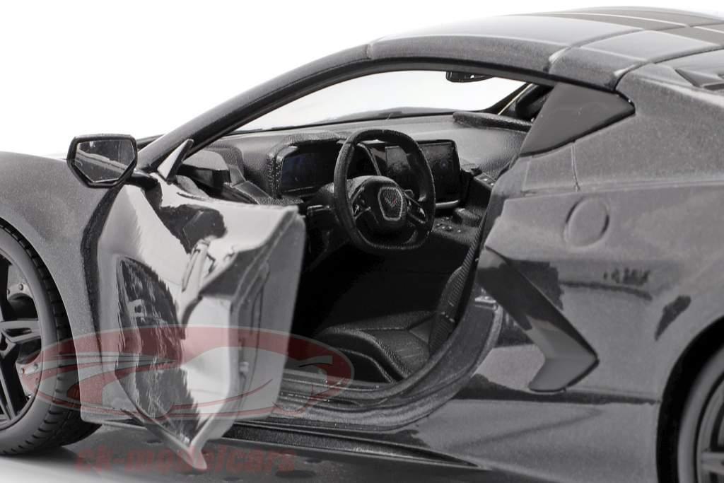 Chevrolet Corvette C8 Stingray Année de construction 2020 gris 1:18 Maisto