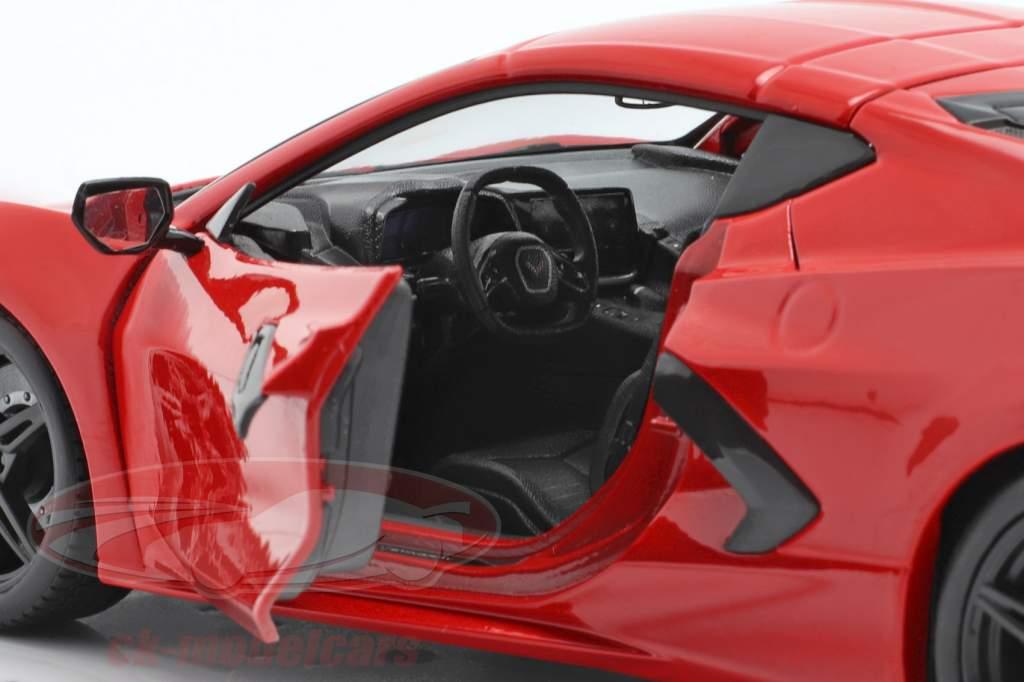 Chevrolet Corvette C8 Stingray Bouwjaar 2020 rood 1:18 Maisto