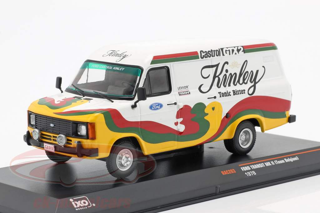 Ford Transit MK II Ano de construção 1978 Kinley Team Bélgica 1:43 Ixo