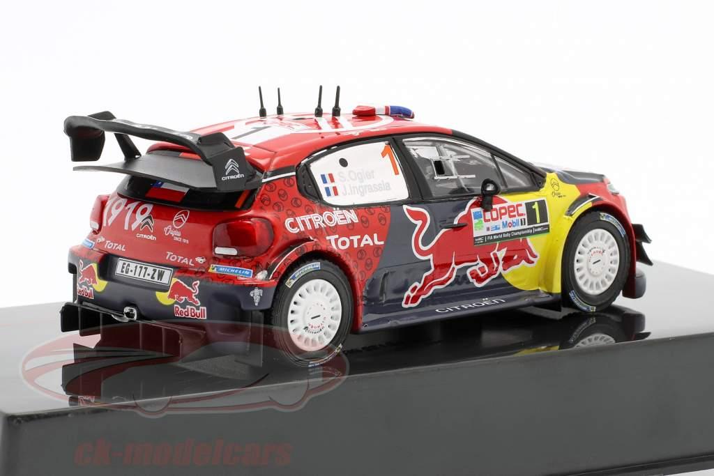 Citroen C3 WRC #1 2nd Rallye Chile 2019 Ogier, Ingrassia 1:43 Ixo