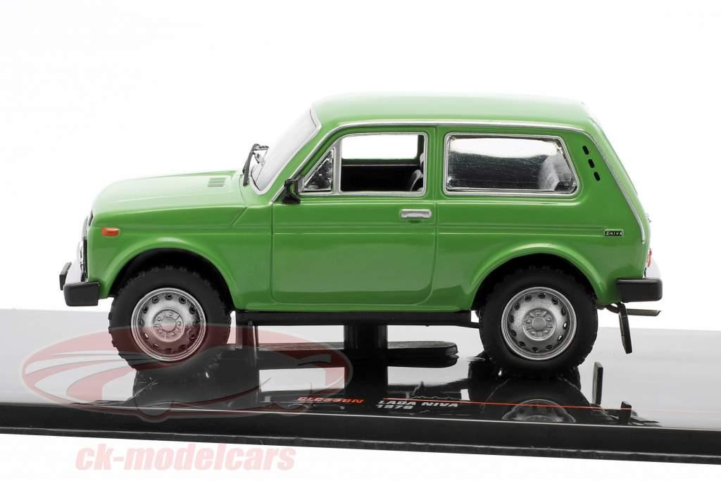 Lada Niva Byggeår 1978 grøn 1:43 Ixo