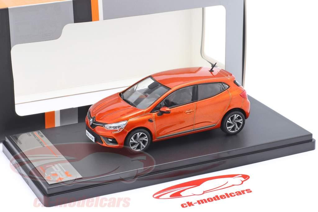 Renault Clio RS Line Année de construction 2019 Orange métallique 1:43 Premium X