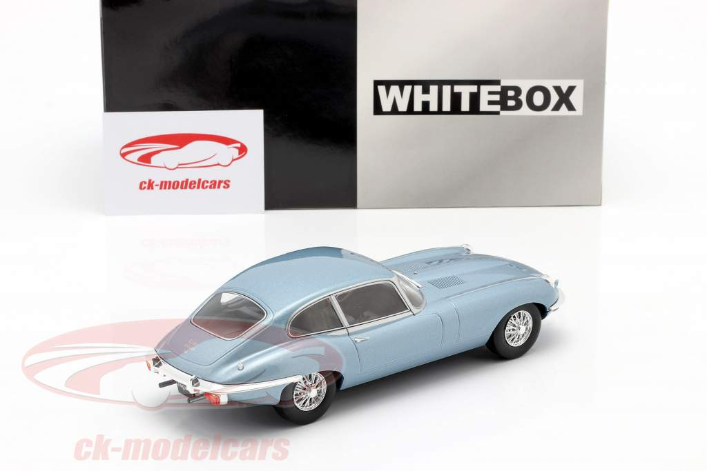 Jaguar E-Type blå metallisk 1:24 WhiteBox