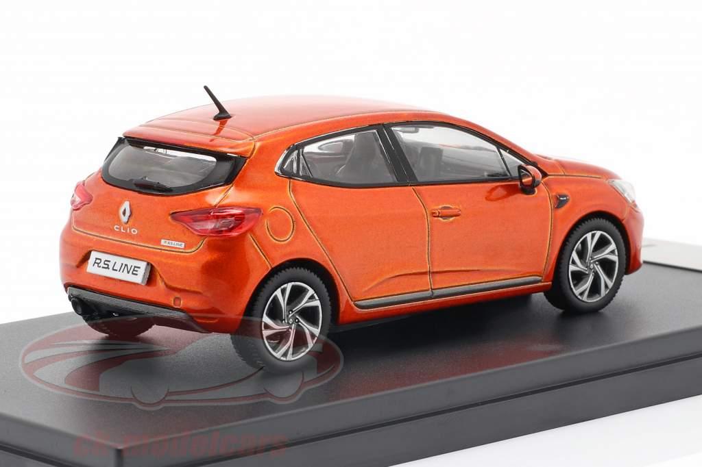 Renault Clio RS Line Bouwjaar 2019 oranje metalen 1:43 Premium X