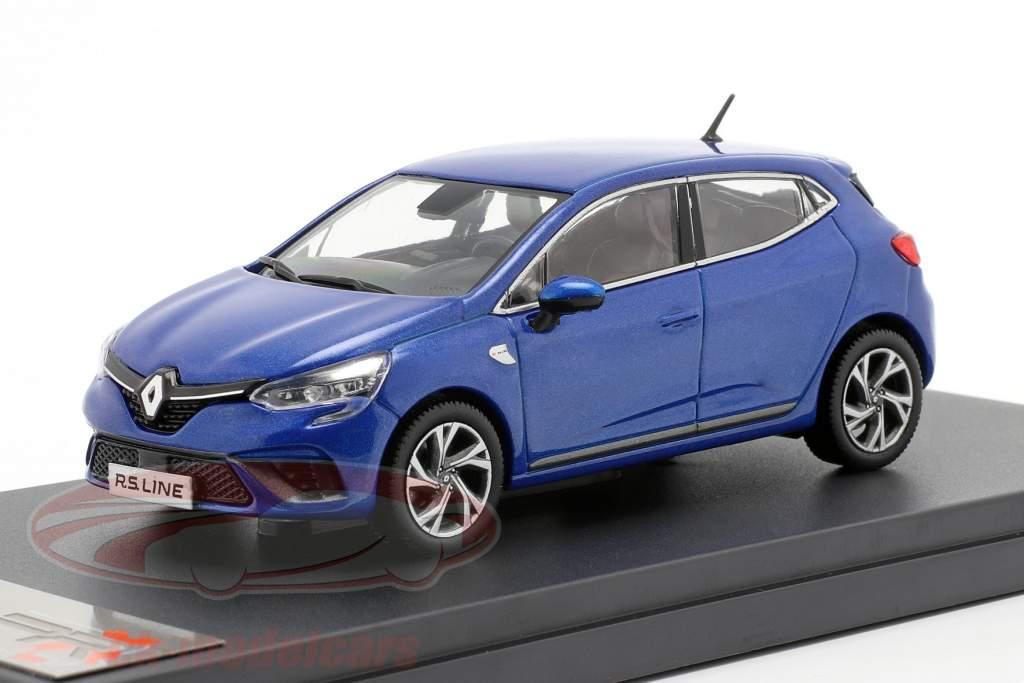 Renault Clio RS Line an 2019 bleu métallique 1:43 Premium X