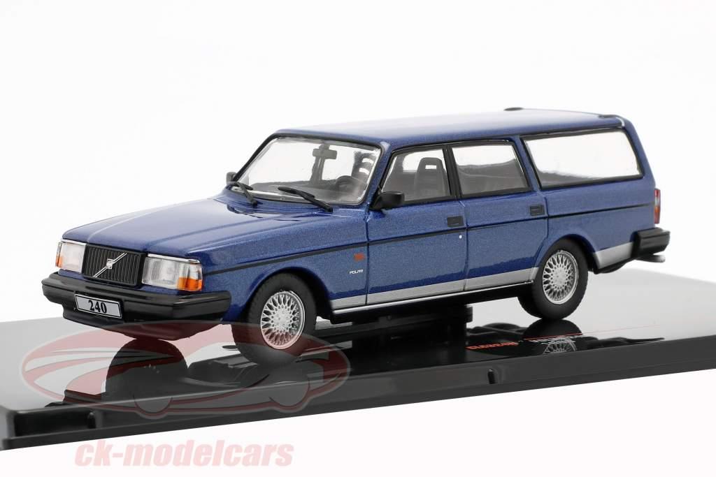 Volvo 240 Polar Año de construcción 1988 azul metálico 1:43 Ixo