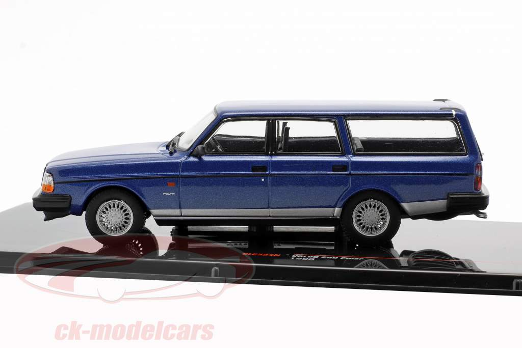 Volvo 240 Polar year 1988 blue metallic 1:43 Ixo