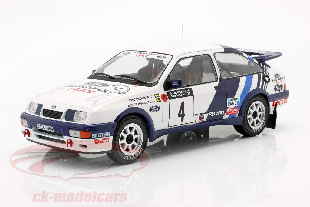 Ford Sierra RS Cosworth #4 5. Rallye 1000 Lakes 1988 Blomqvist, Melander 1:18 Ixo