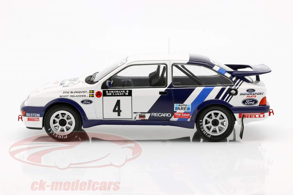 Ford Sierra RS Cosworth #4 5th Rallye 1000 Lakes 1988 Blomqvist, Melander 1:18 Ixo