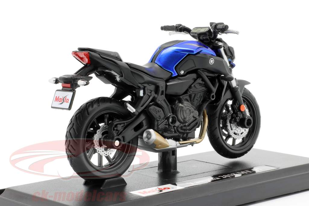 Yamaha MT-07 year 2018 blue / black 1:18 Maisto