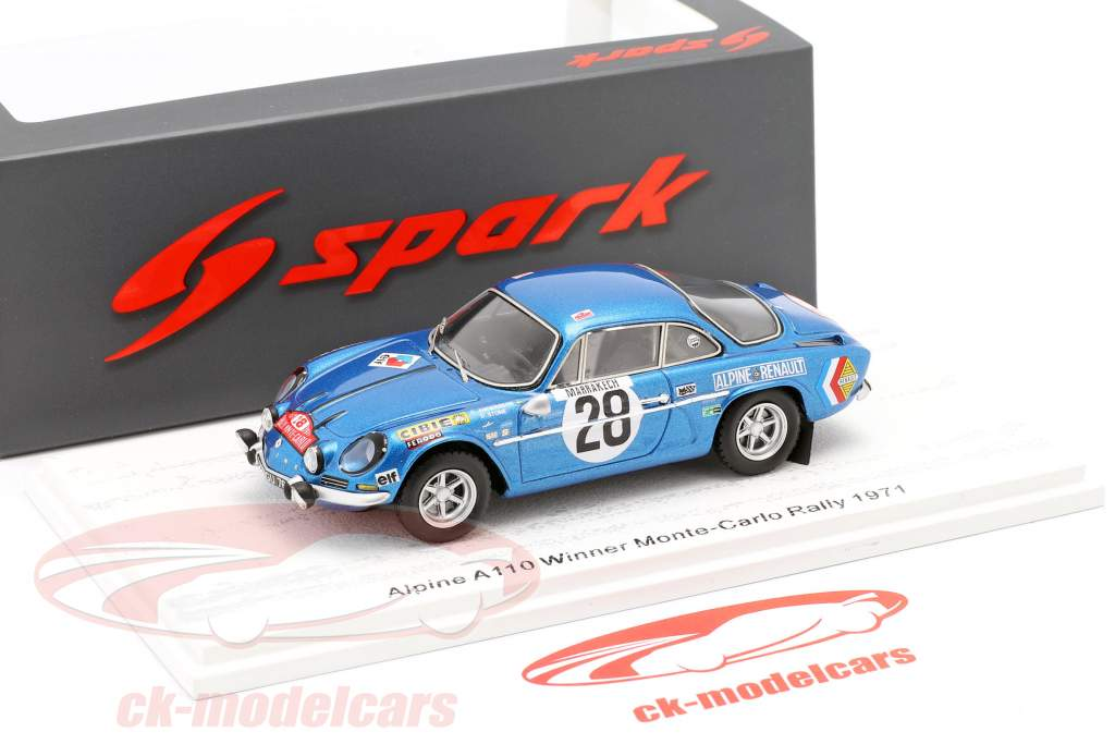 Alpine A110 #28 Sieger Rallye Monte Carlo 1971 Andersson, Stone 1:43 Spark