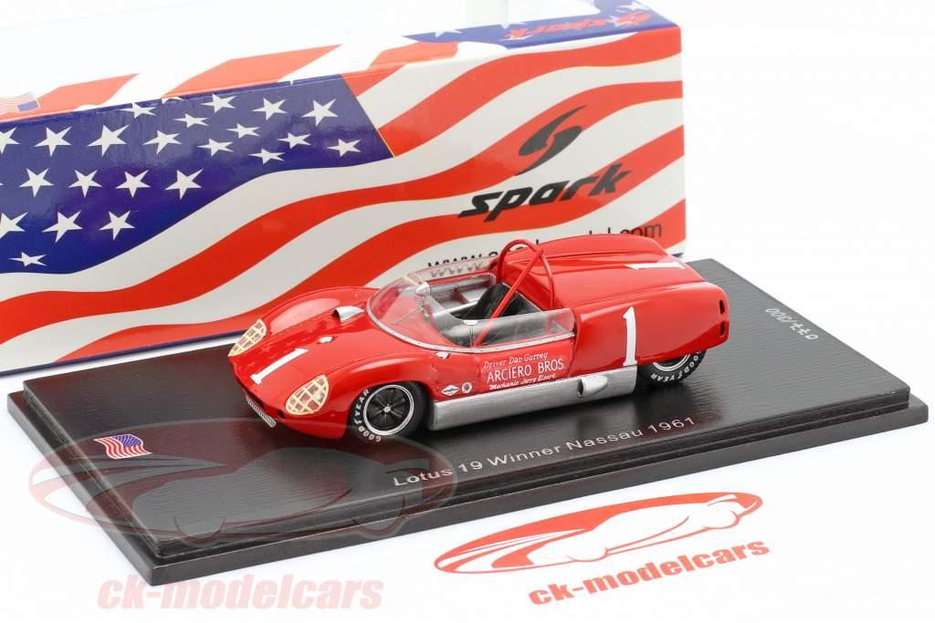 Lotus 19 #1 Gagnant Nassau Trophy Race 1961 Dan Gurney 1:43 Spark