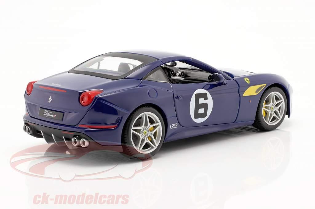 Ferrari California T #6 The Sunoco 70 Anniversary Collection azul 1:18 Bburago