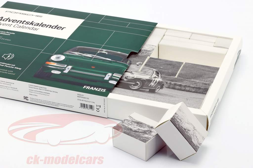 Porsche Calendario de adviento 2020: Porsche 911 1:43 Franzis