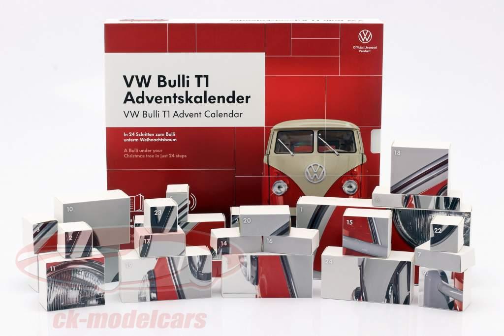 VW Bulli T1 Calendario de adviento 2020: Volkswagen VW Bulli T1 rojo 1:43 Franzis