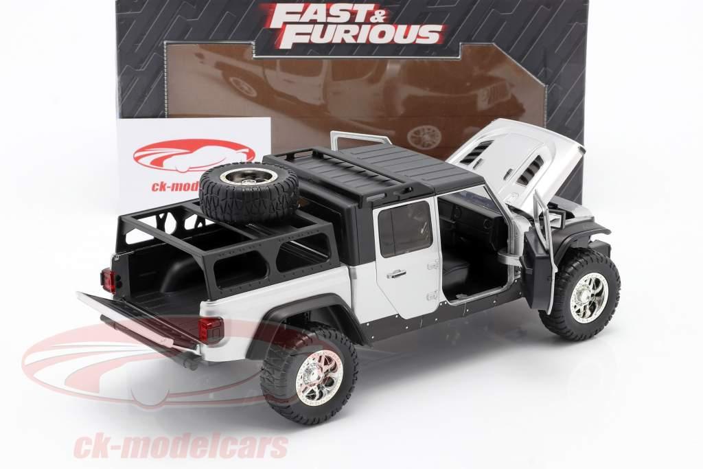 Jeep Gladiator year 2020 Fast & Furious 9 (2021) silver 1:24 Jada Toys
