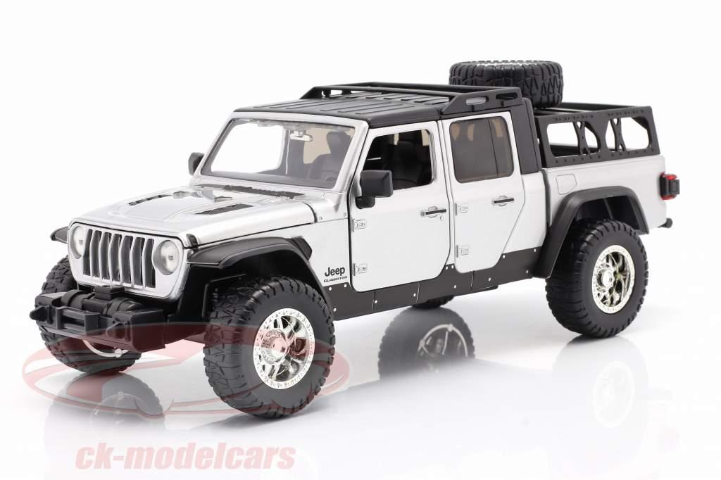 Jeep Gladiator år 2020 Fast & Furious 9 (2021) sølv 1:24 Jada Toys
