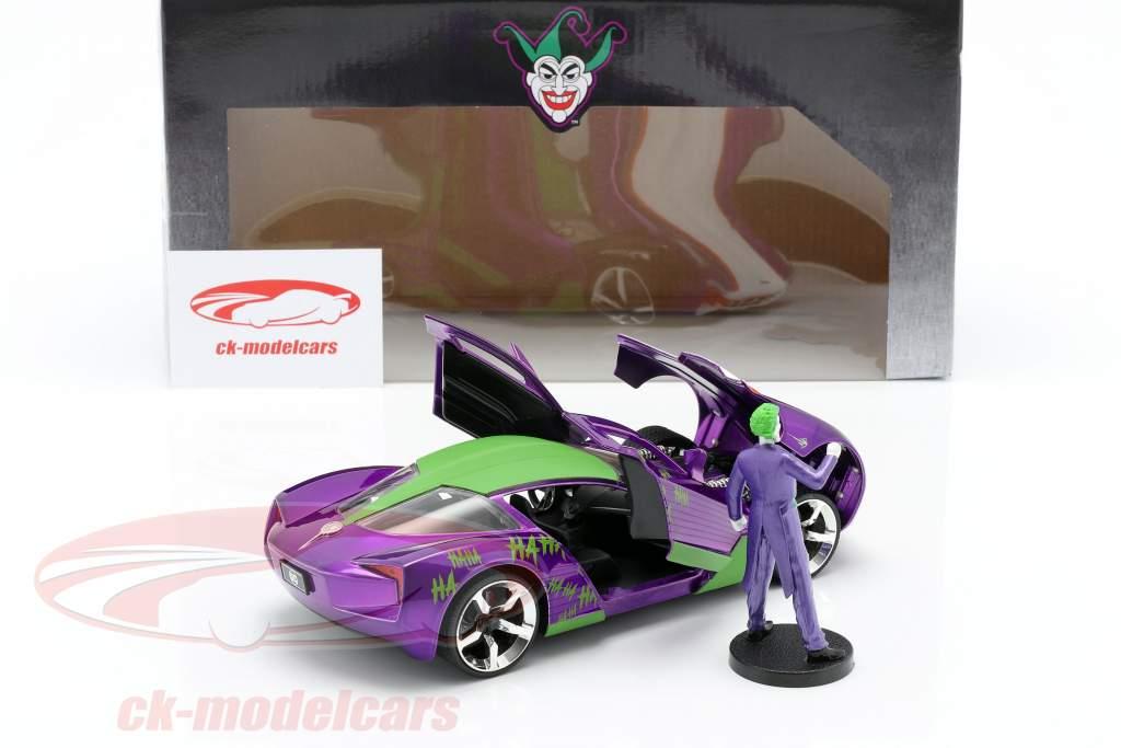 Chevrolet Corvette Stingray 2009 Met figuur The Joker DC Comics 1:24 Jada Toys
