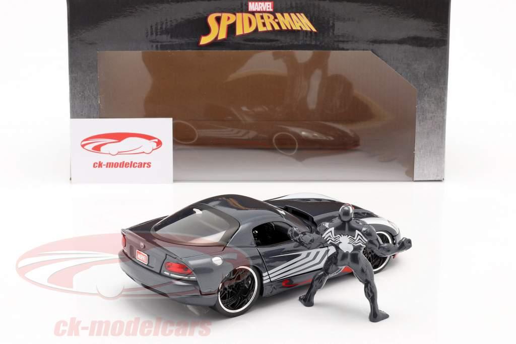 Dodge Viper Bouwjaar 2008 Met figuur Venom Marvel Spiderman 1:24 Jada Toys