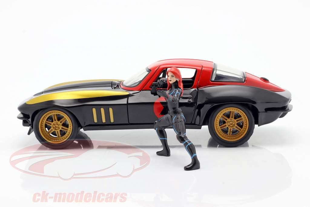 Chevrolet Corvette 1966 mit Figur Black Widow Marvel Avengers 1:24 Jada Toys