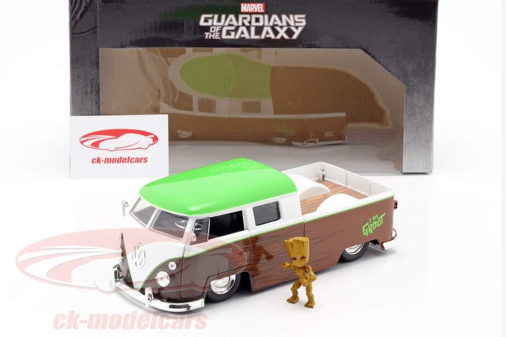 Volkswagen VW Bus PickUp 1963 mit Figur Groot Marvel Guardians 1:24 Jada Toys