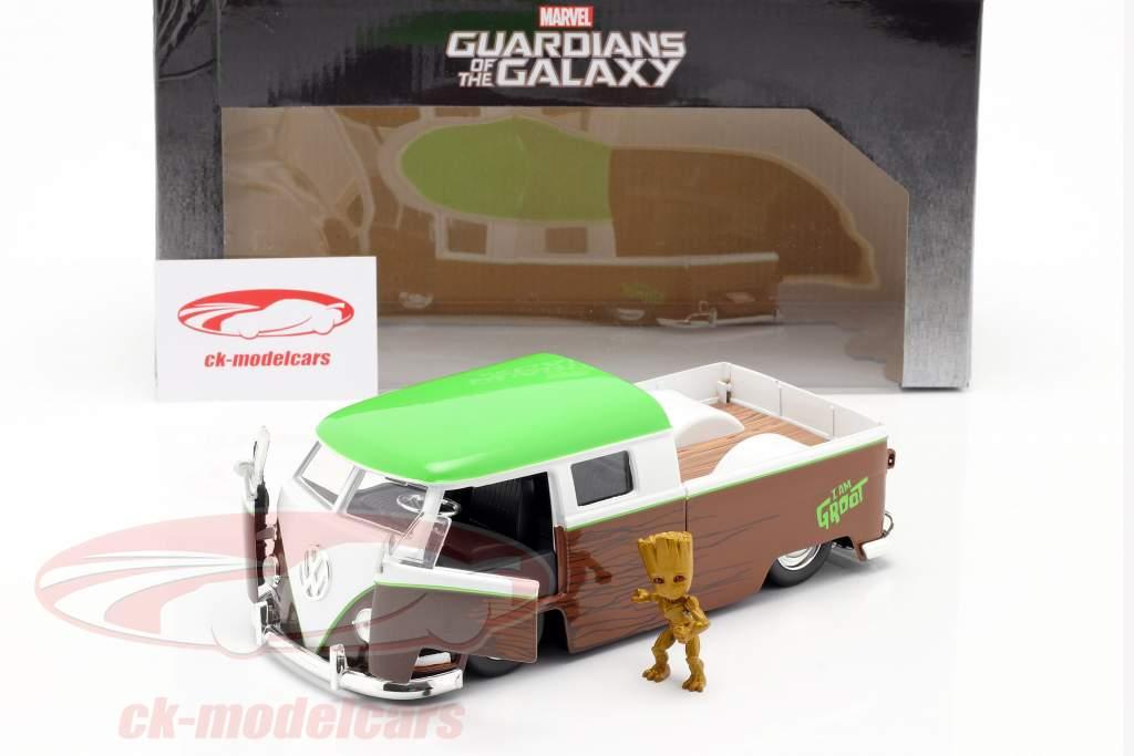 Volkswagen VW Bus PickUp 1963 Met figuur Groot Marvel Guardians 1:24 Jada Toys